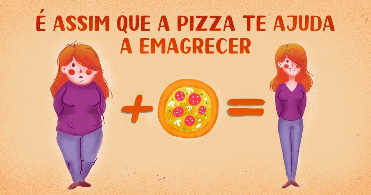 Pizza ajuda aemagrecer