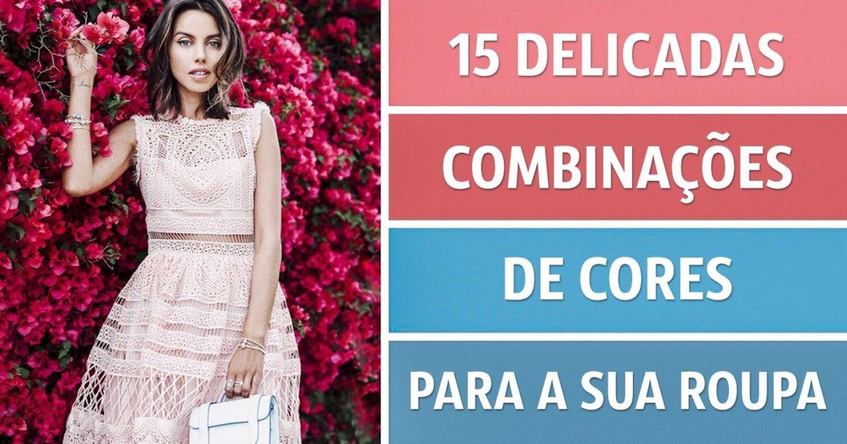 15delicadas combinações decores para asua roupa