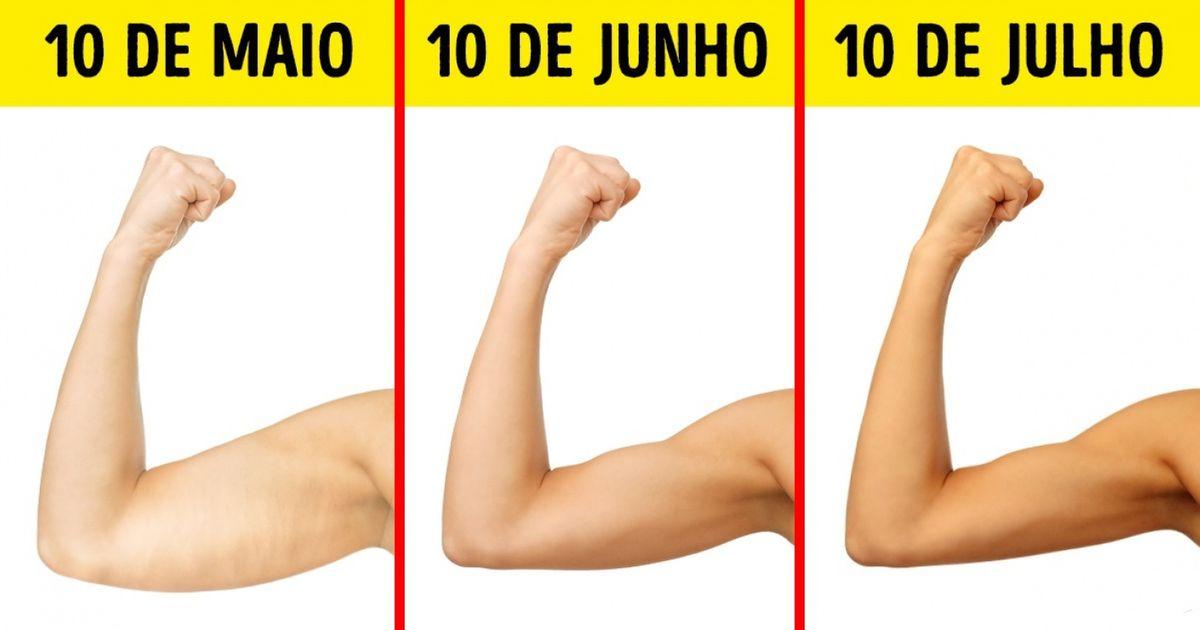 Com estes 6exercícios, seus braços ficarão lindos