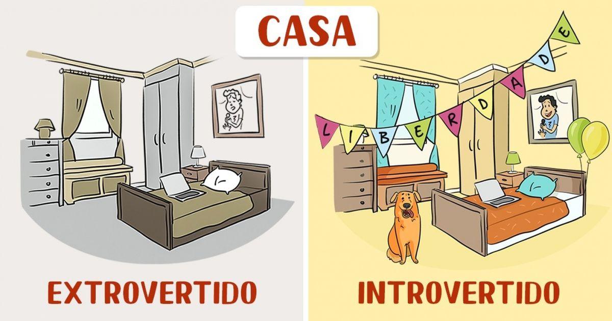 12 comics sobre como se comportam os introvertidos e os extrovertidos