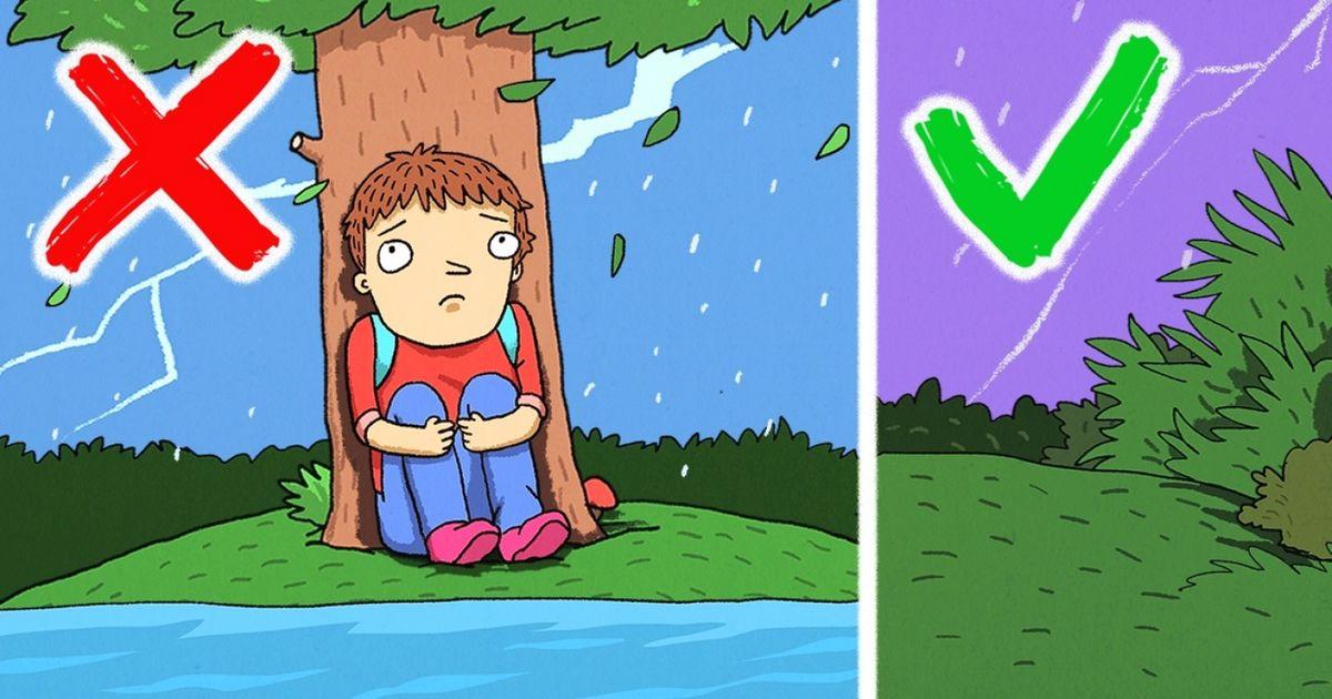 Verdades ementiras sobre como agir durante tempestades