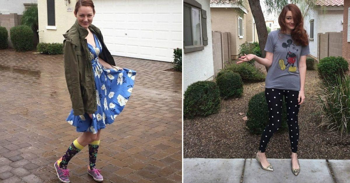 Uma mãe deixou ofilho escolher aroupa durante uma semana