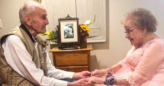 Um casal comemorou seus 72 anos de casamento de uma maneira única e especial para ambos