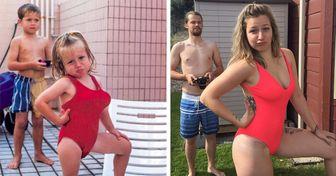 18 Pessoas que arrasaram ao recriar antigas fotos em família