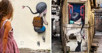 Artista dá vida a espaços vazios do mundo usando a inocência das crianças como protagonista
