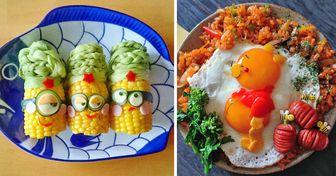 30 Pratos muito fofos que mães prepararam para seus filhos