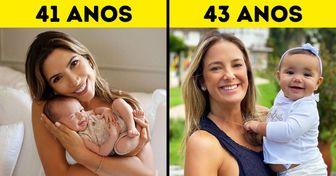 20 Famosas brasileiras que comemoraram a chegada de seus bebês na faixa dos 40 anos