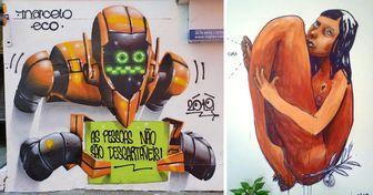 20+ Obras aqui no Brasil de grafiteiros nacionais reconhecidos mundialmente