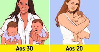 10 Vantagens e riscos que podem surgir para quem tem filhos aos 20 em comparação a quem tem aos 30 anos