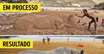 Artista basco dá vida à areia com suas esculturas de animais que parecem ser de verdade (20 fotos)