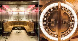 Bar brasileiro é construído dentro de um antigo cofre e deixa um clima de história e luxo