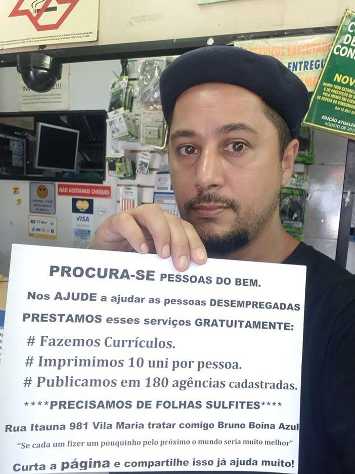 Empresa paulista imprime currículo de graça e publica em agências de emprego (uma esperança para quem precisa trabalhar)