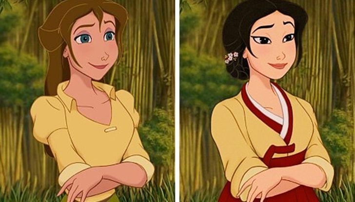 Artista mostra como seriam as princesas da Disney se elas fossem de etnias diferentes