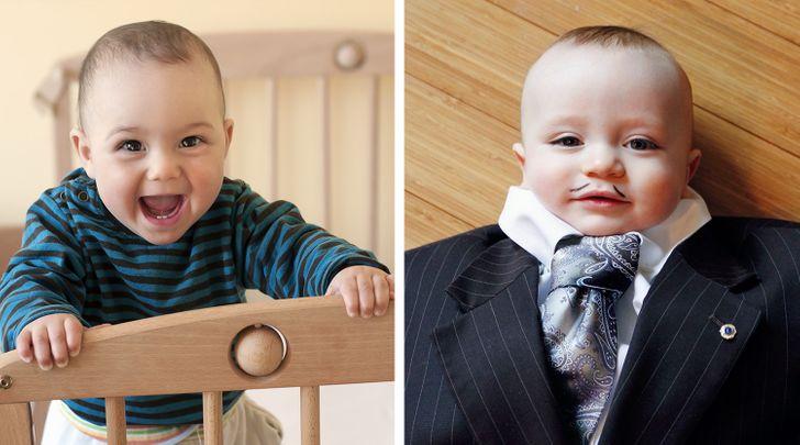 Bebês nascidos com cabeças grandes tendem a se tornar adultos inteligentes (confira as fotos de sua infância agora)