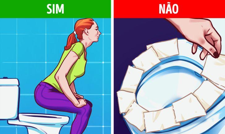Por que você deve evitar colocar papel higiênico sobre o vaso sanitário antes de se sentar