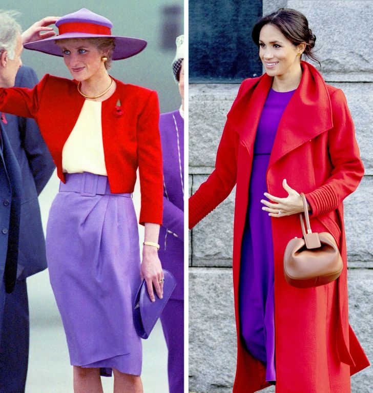14 Vezes em que Kate Middleton e Meghan Markle recriaram looks da princesa Diana, comovendo o público