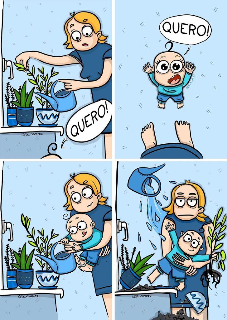 15 Quadrinhos que mostram a realidade da maternidade com humor