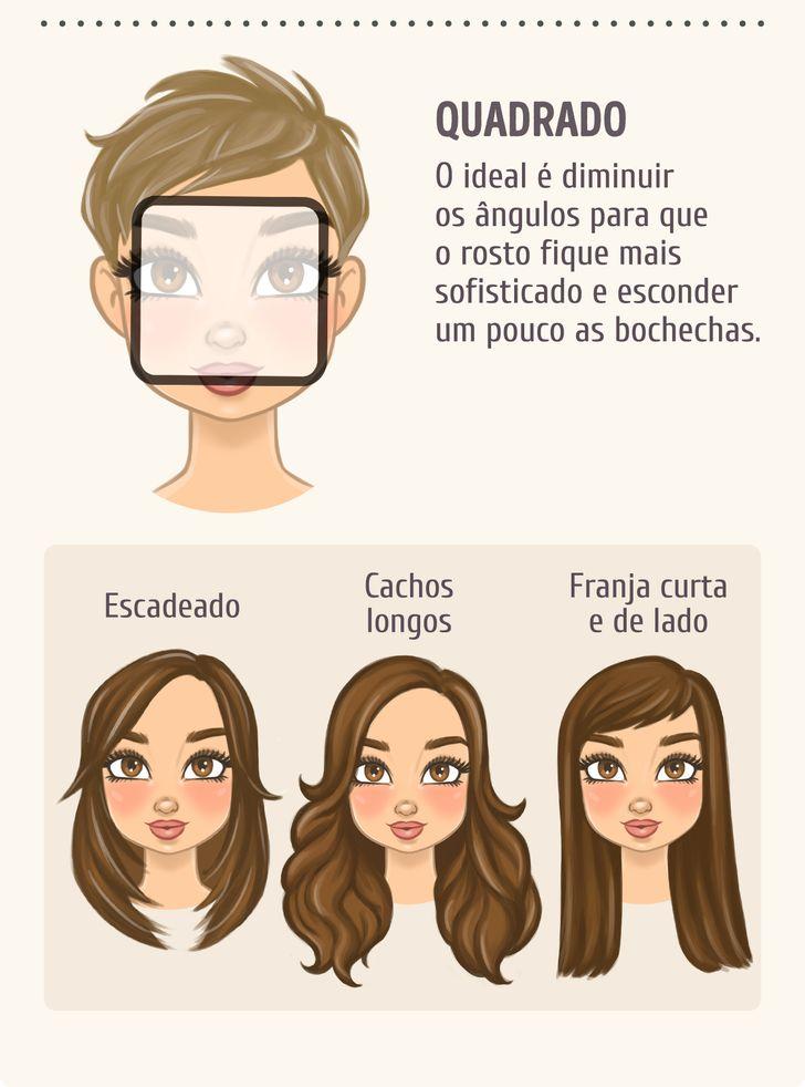 Escolha openteado deacordo com oformato doseu rosto