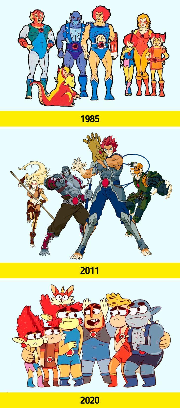 Como o visual de personagens famosos evoluiu ao longo dos anos (spoiler: o coelho da Mônica não era azul)