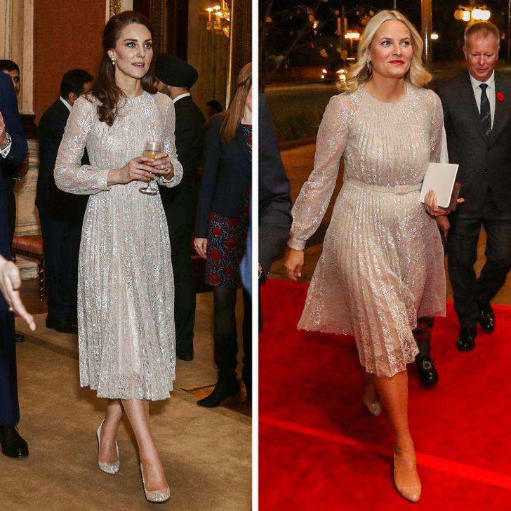11 Pares de mulheres da realeza que usaram o mesmo vestido, mas tiveram resultados diferentes