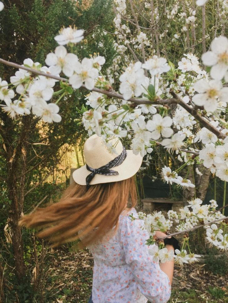As pessoas mostram a beleza da primavera ao redor do mundo