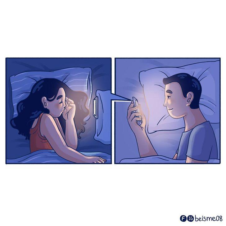 Ilustradora captura momentos únicos entre casais tão bem que podemos até sentir o amor pairando no ar