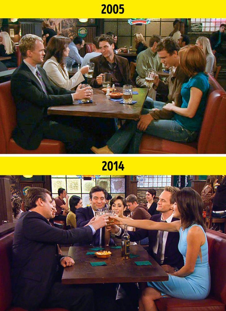 13 Comparações entre os primeiros e os últimos capítulos de algumas séries de TV de sucesso