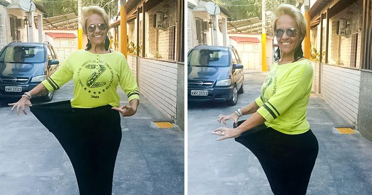 Ela encontrou na zumba uma motivação e perdeu 80 kg dançando