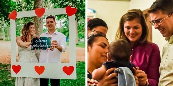 """20 Fotos de famílias incentivando e comemorando a adoção com a hashtag """"grávidos de coração"""" para nos inspirar"""