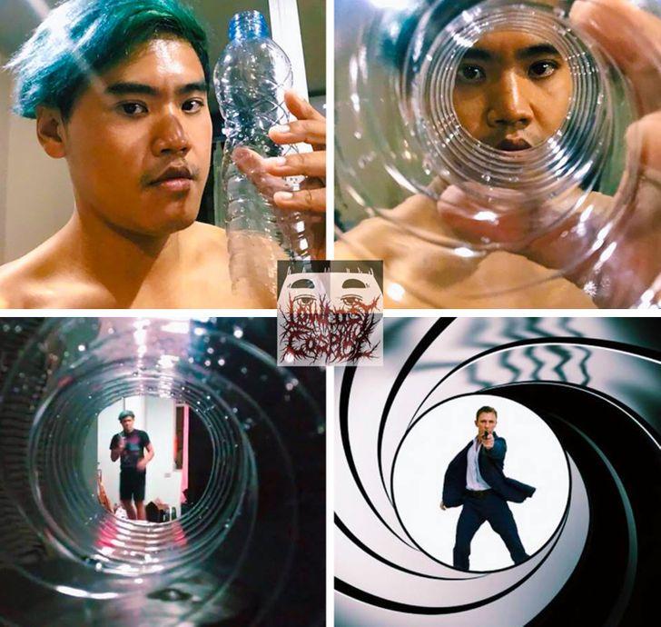 Com materiais debaixo custo, jovem tailandês setransforma emvários personagens