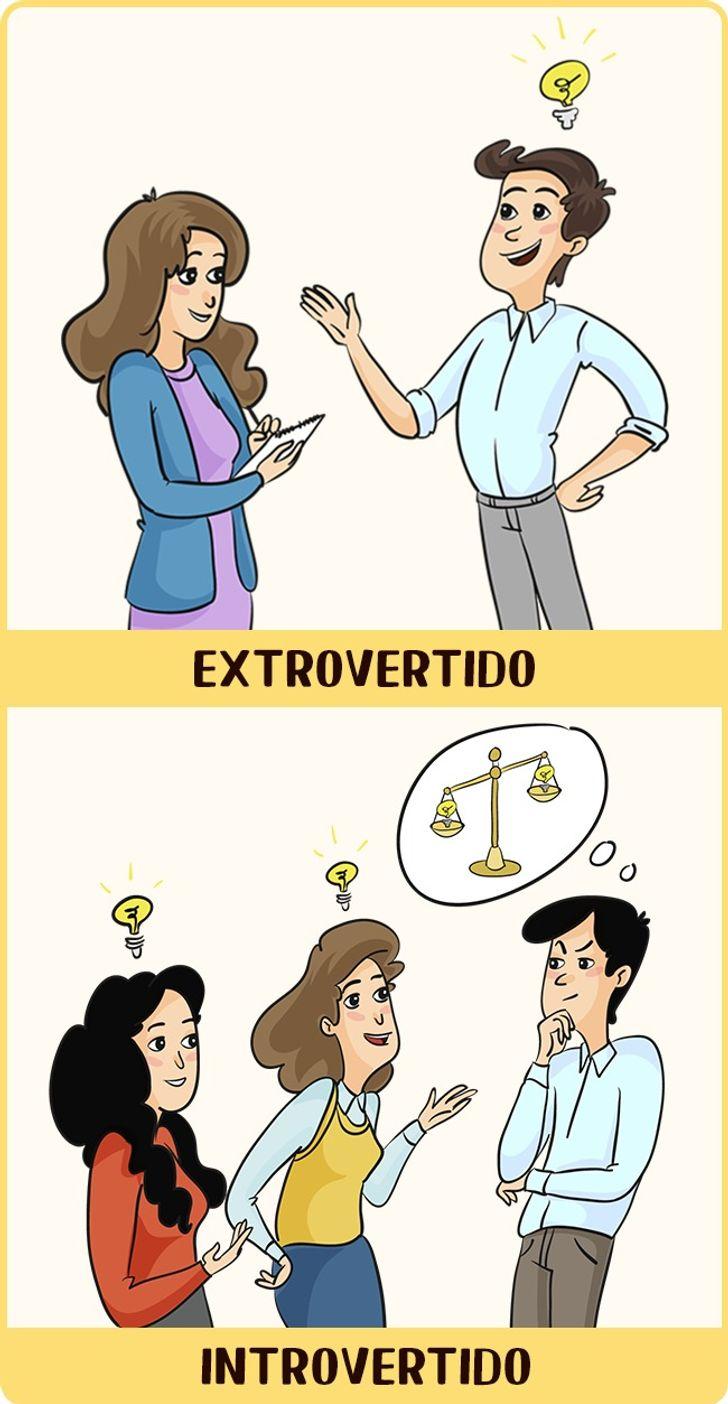 12comics sobre como secomportam osintrovertidos eosextrovertidos