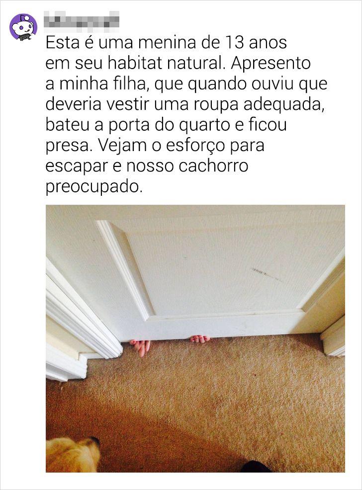 24 Internautas contam como seus pais reagiam quando eles batiam a porta do quarto com força