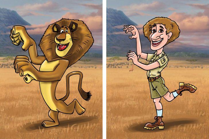 """Como seriam os personagens de """"Madagascar"""" se fossem humanos"""