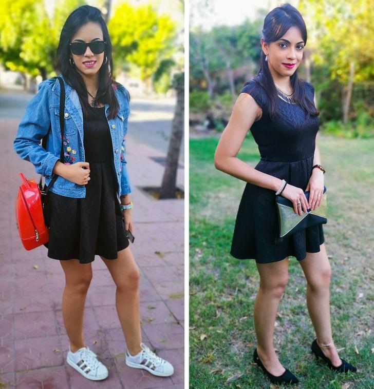 33 Combinações de roupas que você pode criar usando apenas oito peças básicas na cor preta