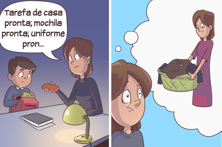 15 Comics ilustrando a vida escolar das crianças, com os quais quase todos os pais vão se identificar