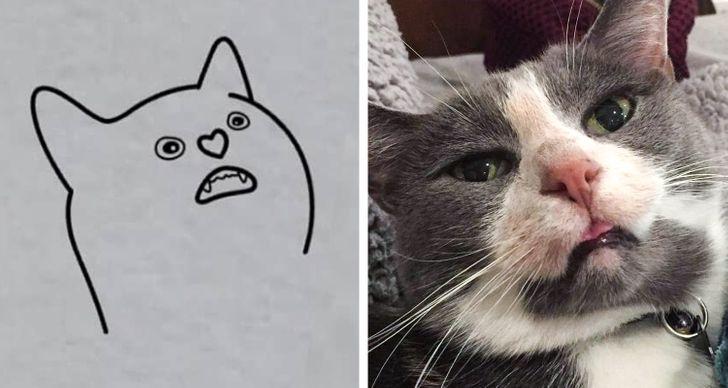 Artista cria desenhos minimalistas de animais fazendo coisas que só eles entendem, com traços perfeitos para tatuagens